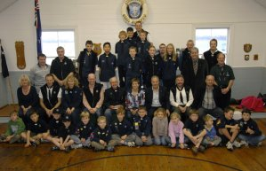 The Calliope Sea Scout Group at the Official Opening.